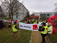 Streik bei Pro Seniore in Cottbus am 01.12.2017