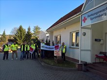 Falck-Warnstreik am 05.04.2018